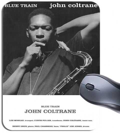 John Coltrane Blue Train Vintage Poster Mouse Mat. High Quality Mouse Pad